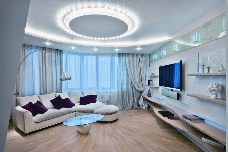 Красивые дизайны гостиных